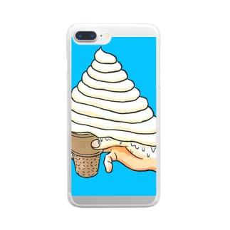 森本大百科のアイスマシマシマシマシ Clear smartphone cases