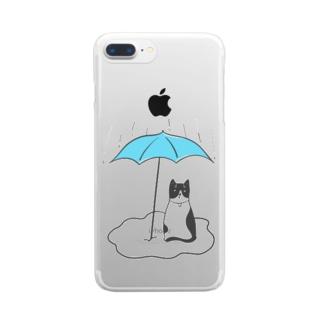 フィガロの雨宿り Clear smartphone cases