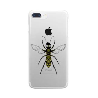 蜂くん Clear smartphone cases