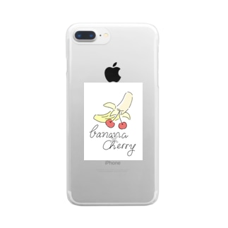 🍌×🍒 Clear smartphone cases