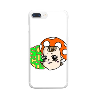 SO CUTE(ホワイト) Clear smartphone cases