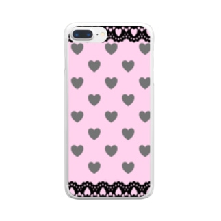 量産型 地雷系 風 Clear smartphone cases