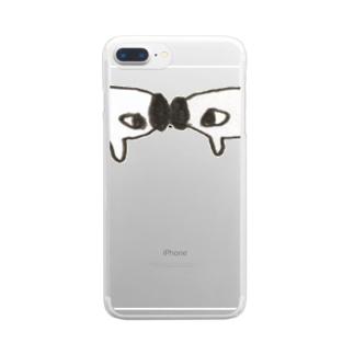 ごっつんこ Clear smartphone cases