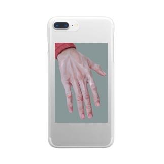 手の甲 Clear smartphone cases