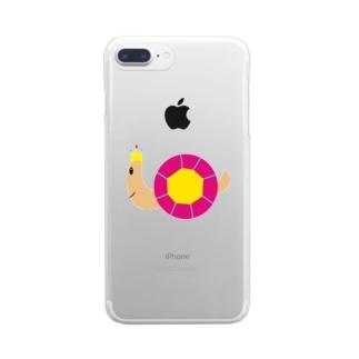 キングでんでん Clear smartphone cases