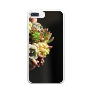 rie(๑´ڡ`๑)の多肉だま*多肉植物 Clear smartphone cases