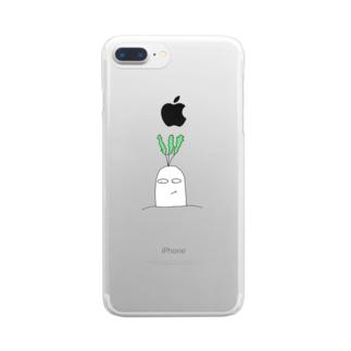 だいコーン Clear smartphone cases