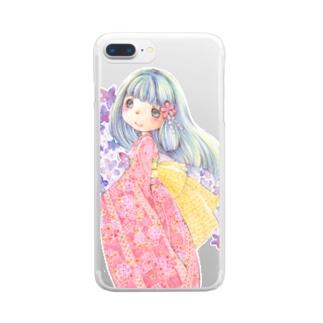 ルミ*withUの着物女子 Clear smartphone cases