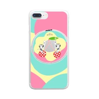 かれ〜なる絵制作所ちーもんずのワレワレワナリノドーナッツハ★ Clear smartphone cases