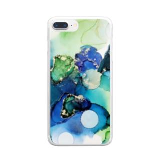あおとみどり Clear smartphone cases