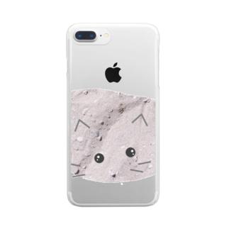 しぱしぱのすなねこ Clear smartphone cases