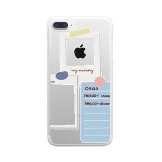 tantanm__nの挟みこめるかな Clear smartphone cases