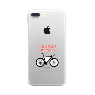 yumi0326の自転車 Clear smartphone cases