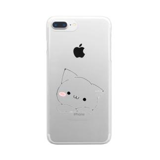 honogのにゃこ Clear smartphone cases
