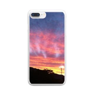 夕焼け小焼け Clear smartphone cases