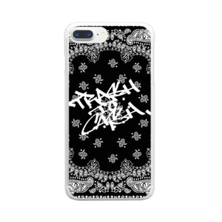 trash to cash×Paisley Clear smartphone cases