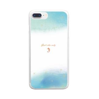 ゆめの渚 Clear smartphone cases