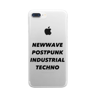 NEWWAVE POSTPUNK INDUSTRIAL TECHNO Clear smartphone cases