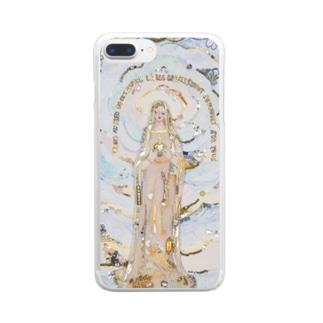 奇跡のメダイユ教会のマリア像 Clear smartphone cases