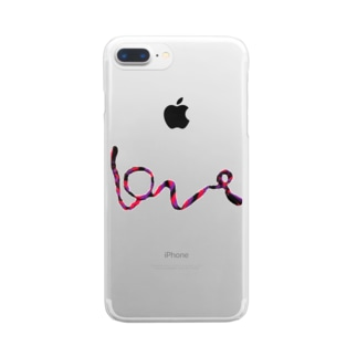Loveミサンガ Clear smartphone cases