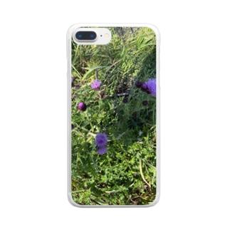 kawachu5のアザミ Clear smartphone cases