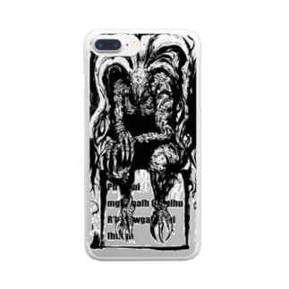 墨絵クトゥルフ Clear smartphone cases