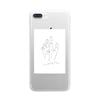 Morigeの愛の手 Clear smartphone cases