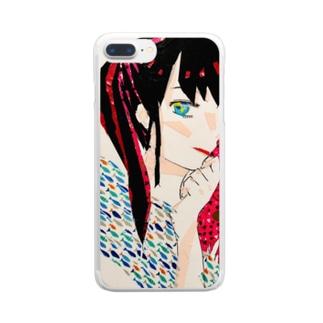 春日陽一の美笑 Clear smartphone cases