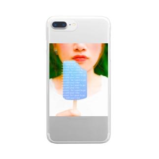 あなたと海に行きたい女の子 Clear smartphone cases