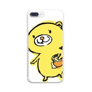 スター☆フロッグのハニくま Clear smartphone cases