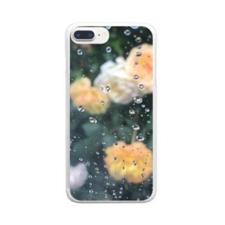 Kari040の雨と花 Clear smartphone cases
