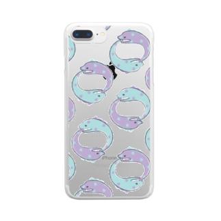 ぐるぐるうつぼ Clear smartphone cases