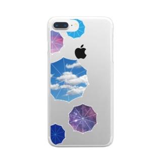晴色パラソル Clear smartphone cases