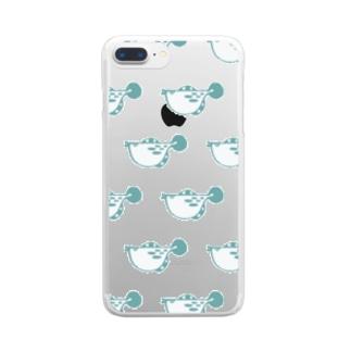 ふぐ Clear smartphone cases