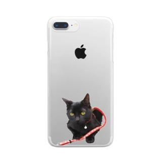 まめぞうくん Clear smartphone cases