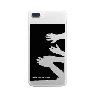 すがりつく Clear smartphone cases
