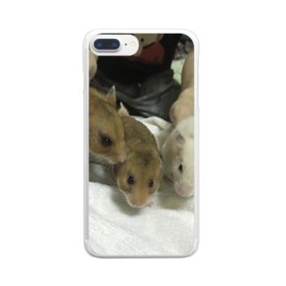 3匹のハムスター Clear Smartphone Case