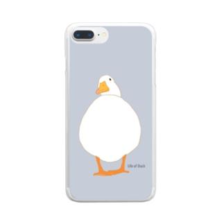 まるまるアヒルさん Clear smartphone cases