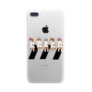 yuruholismのSunglasses Sumo Wrestler サングラス 相撲 力士 行進 Clear smartphone cases