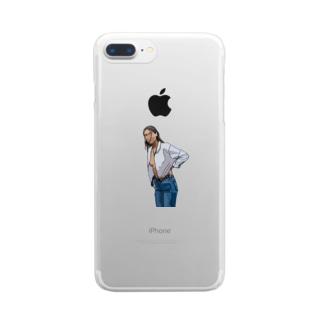 myon2753の女性 Clear smartphone cases