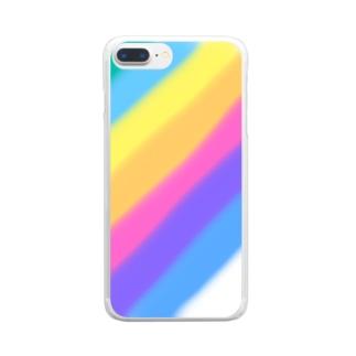 胡実クルミの虹 Clear smartphone cases