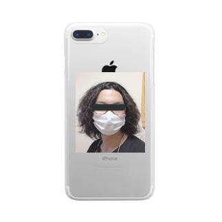 職質受けたことある人アイテム Clear smartphone cases