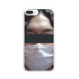 職質受けたことある人 Clear smartphone cases