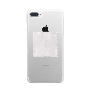 rilybiiの大理石*メッセージ Clear smartphone cases