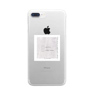 大理石*うさぎ Clear smartphone cases