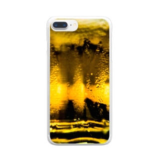キンッキンに冷えた生ビール Clear smartphone cases