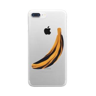 濃密バナナ Clear smartphone cases