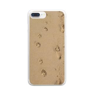 いぬのあしあと Clear smartphone cases