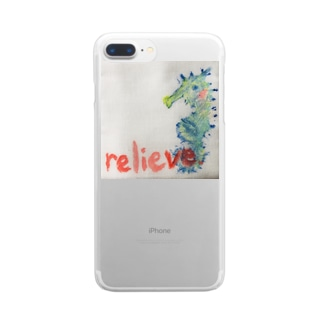 relieve.ーほっとひといき Clear smartphone cases