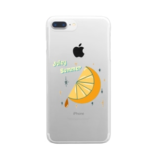 Juicy Summer Clear smartphone cases